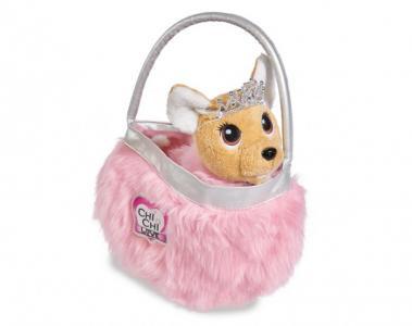 Мягкая игрушка  собачка Принцесса с пушистой сумкой 20 см Chi-Chi Love