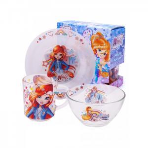Набор стеклянной посуды Winx Club (3 предмета) ND Play