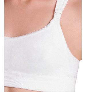 Фэст Майка бесшовная укороченная для кормящих женщин, цвет: белый