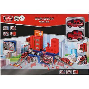 Игровой набор Технопарк Пожарная часть: УАЗ, Лада, 2 машинки, 7,5 см