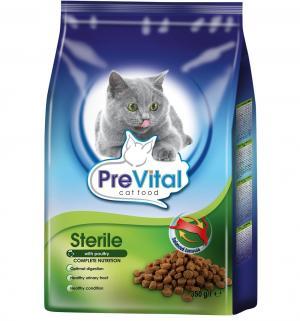 Сухой корм  для взрослых кошек после стерилизации, птица, 350г Prevital
