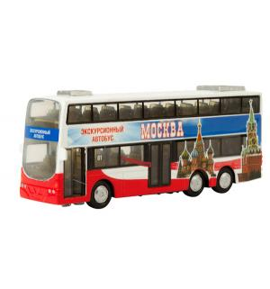 Автобус  Двухэтажный 16 см Технопарк
