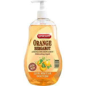 Средство для мытья посуды  Апельсин-бергамот, 550 мл Unicum
