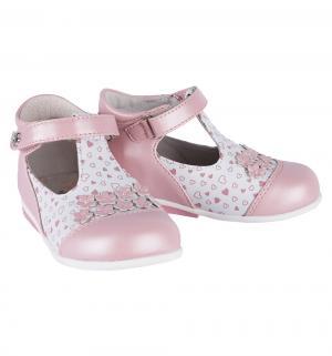 Туфли , цвет: белый/розовый Думми