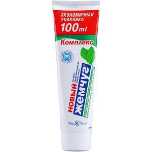 Зубная паста Новый Жемчуг Комплекс лёгкая мята, 100 мл Невская косметика